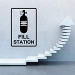 C02 Fill Station Sign Paintball Wall Decal - Vinyl Decal - Car Decal - MC02