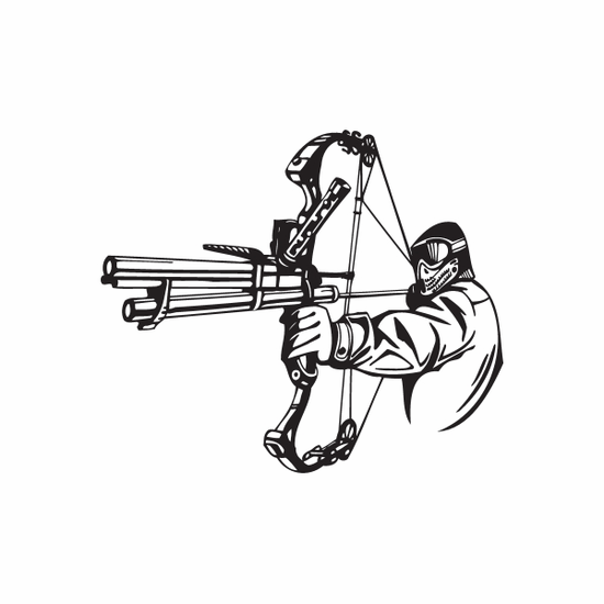 Paintball Wall Decal - Vinyl Decal - Car Decal - DC 002