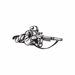 Paintball Wall Decal - Vinyl Decal - Car Decal - DC 015