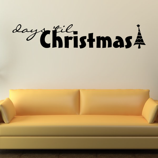 days till Christmas Holiday Decal