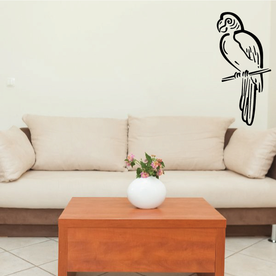 Happy Parrot Perched Decal