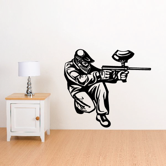 Paintball Wall Decal - Vinyl Decal - Car Decal - CDS0022