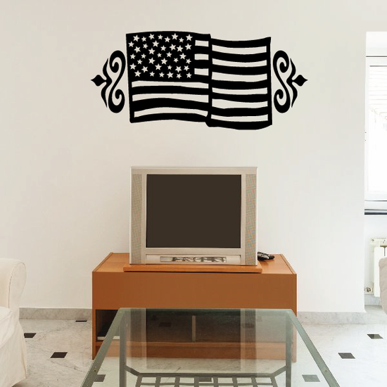 Embellished America Flag Decal