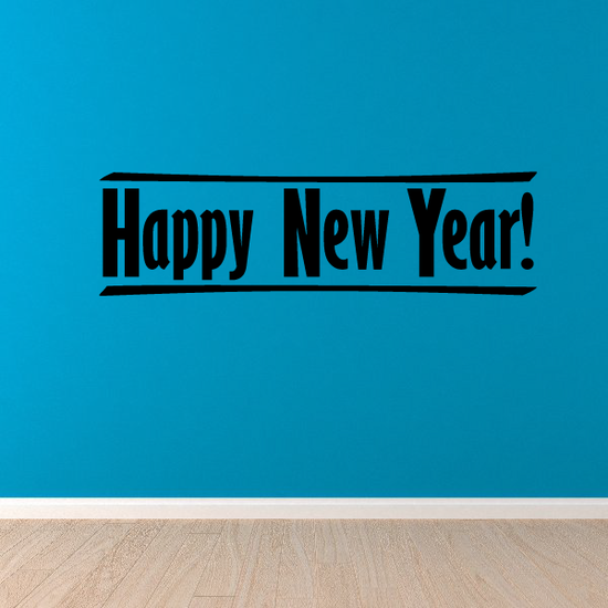 Happy New Year Line Style Decal