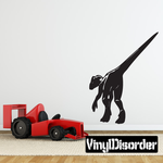 Detailed Dilophosaurus Walking Away Decal