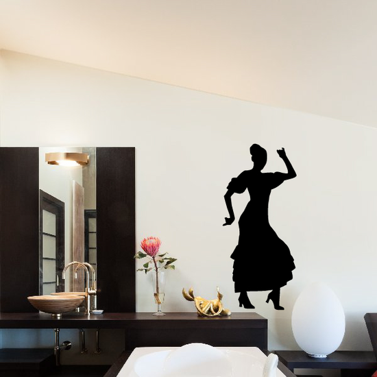 Flamenco Dancers Wall Decal - Vinyl Decal - Car Decal - BA011