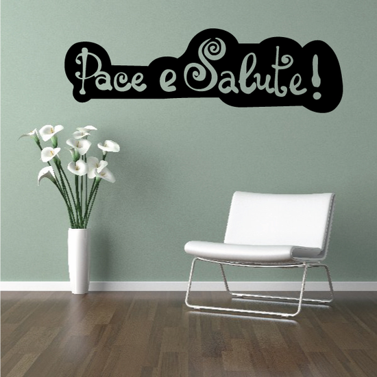 Pace e Salute Corsian Happy New Year Decal