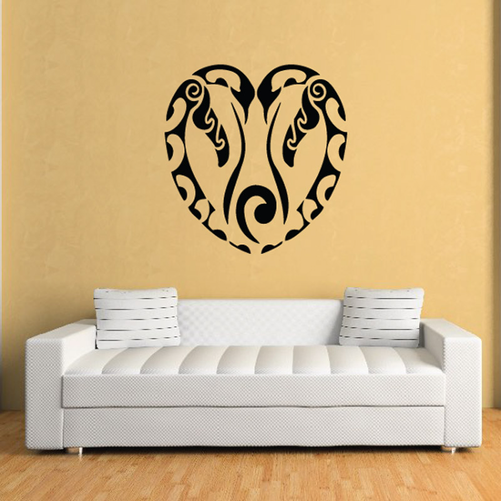 Alaskan Penguin Heart Decal