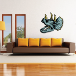 Triceratops Skull Printed Decal