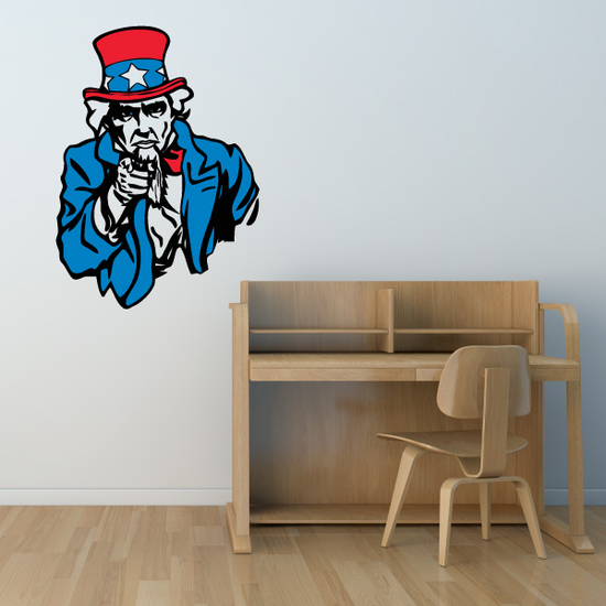 Uncle Sam Printed Die Cut Decal