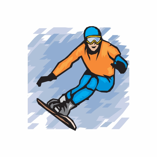 Snowboarding Wall Decal - Vinyl Sticker - Car Sticker - Die Cut Sticker - DC 002