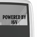 Powered By 16v Decal