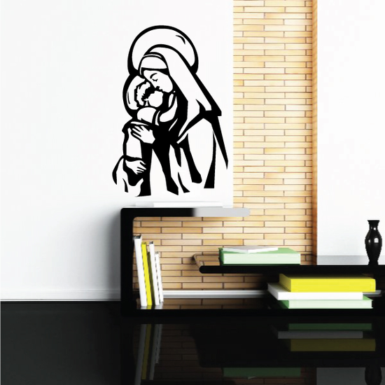 Mary With Baby Jesus Wall Decal