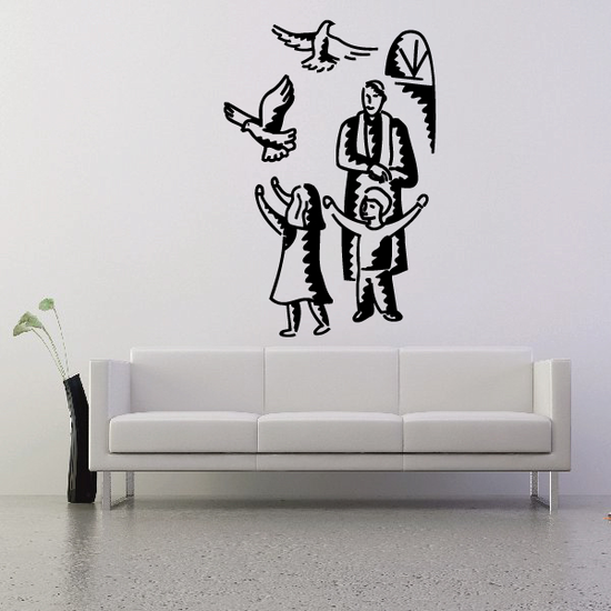 Children Releasing Doves Decal