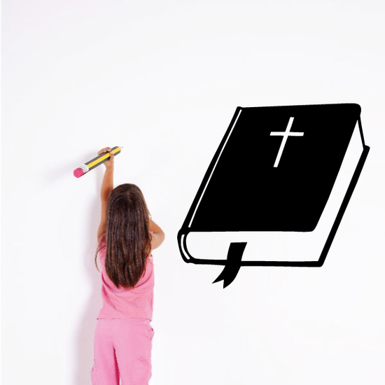 BIble and Cross Decal