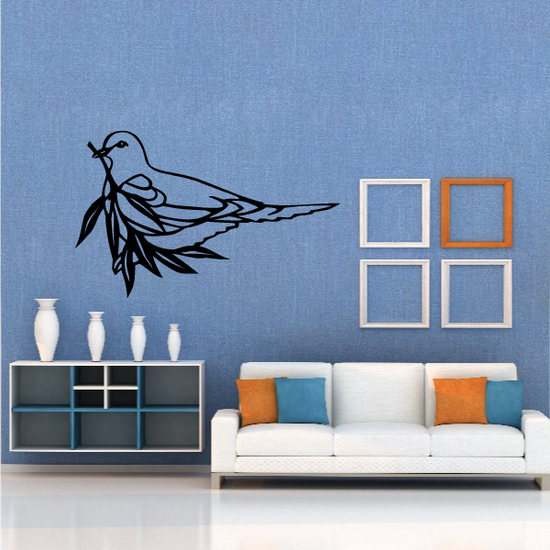 Dove Carrying An Olive Branch Decal