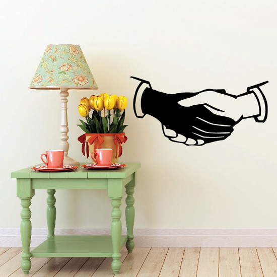 Shaking Hands Decal
