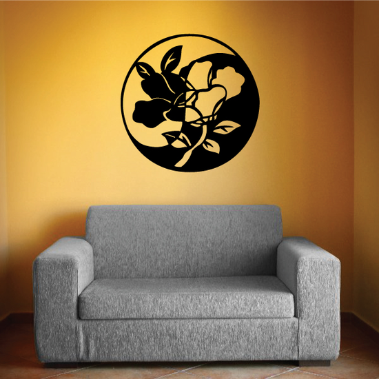 Stained Glass Floral Decal