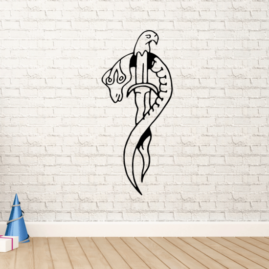 Snake and Eagle Dagger Decal