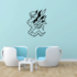 Snake and Wings Decal
