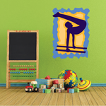 Gymnastics Wall Decal - Vinyl Sticker - Car Sticker - Die Cut Sticker - CDSCOLOR036