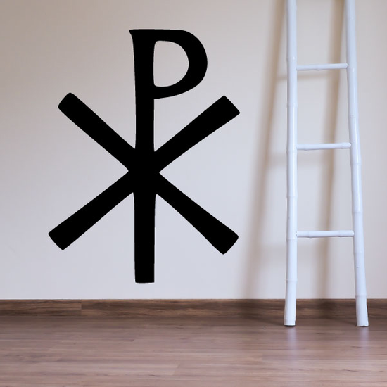 Christianity Chi Rho Decal