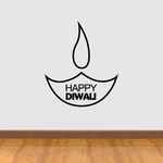 Happy Diwali Candle Decal