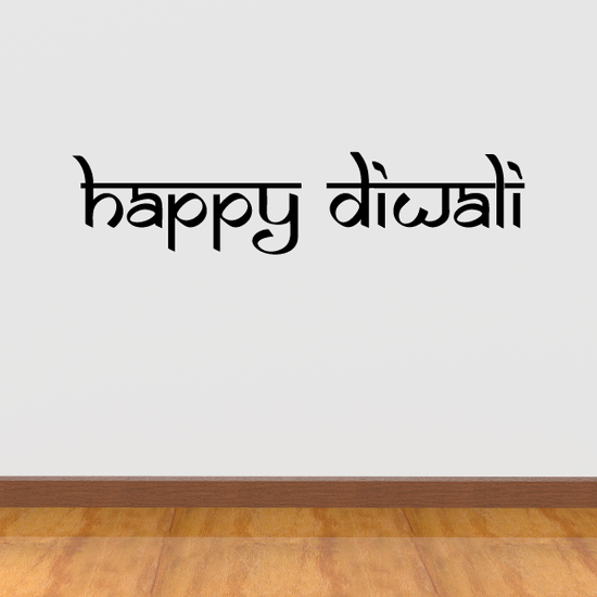 Happy Diwali Script Decal
