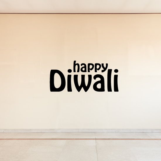 Happy Diwali Plain Text Decal