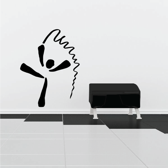 Gymnastics Wall Decal - Vinyl Decal - Car Decal - Bl025