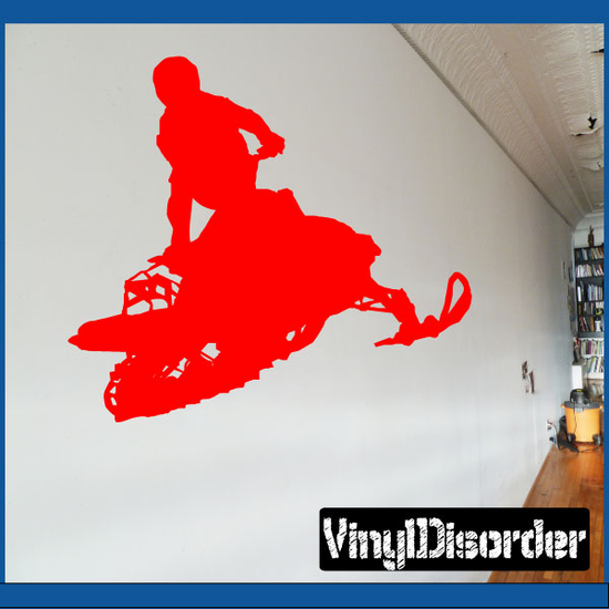 Snowmobile Jumping Decal