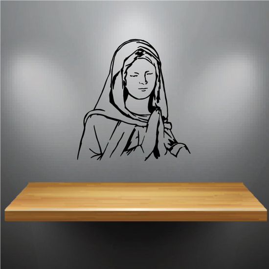 Praying Nun Decal