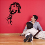 Jesus with Crown of thorns Decal