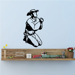 Detailed Praying Cowboy Decal