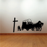 Cowboy with Horse and Carriage Praying Decal