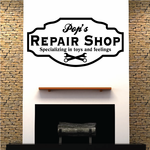 Pops Repair Shop specializing in toys and feelings Decal