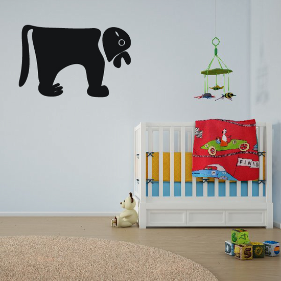 African Art Dog Wall Decal