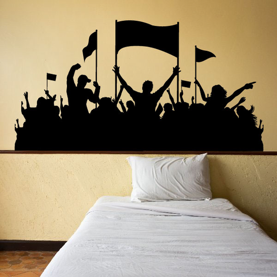 Happy Crowd of Fans Decal
