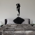 Abstract Floating Seahorse Decal