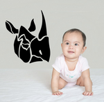 Sectioned Rhino Head Decal