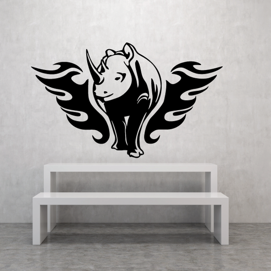 Fire Wings Rhino Decal