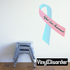 Infant Loss Awareness Ribbon Vinyl Sticker