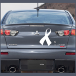 Ribbon Right Curved Decal