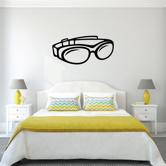 Simple Motorcycle Goggles Decal