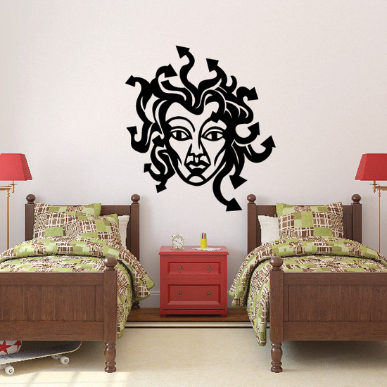 Medusa Face Decal