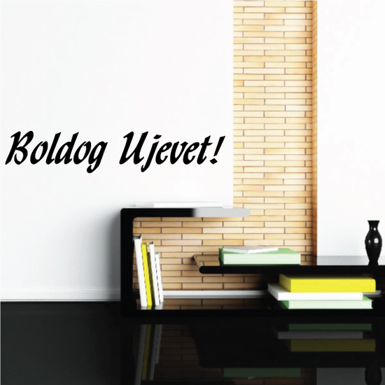 Happy New Year Hungarian Boldog Ujevet Decal