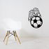 Soccer Goalie Gloves and Ball Decal
