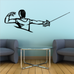 Fencing Mask Fencer Decal