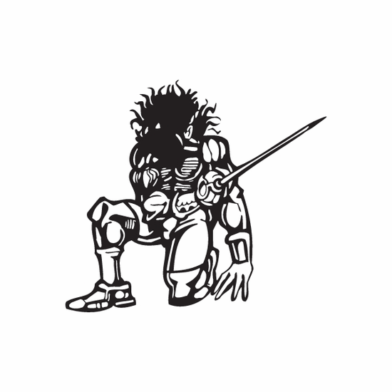 Knight In Armor with Sword Decal