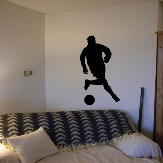 Dribbling the Ball Soccer Player Decal